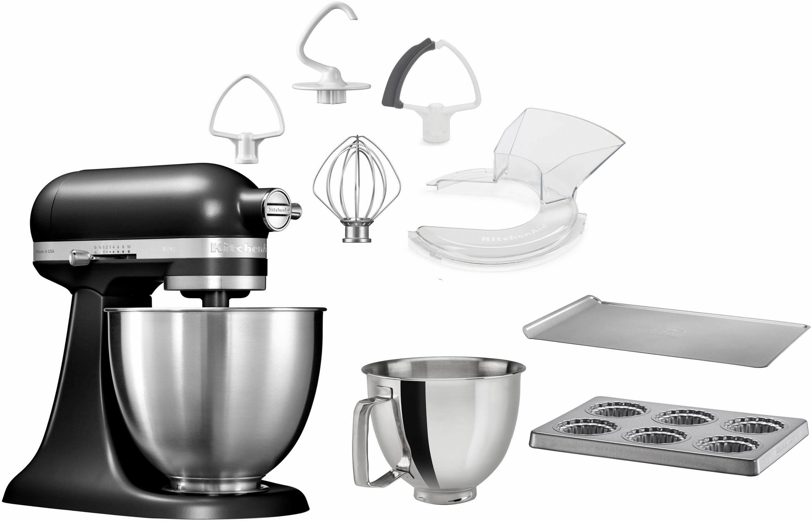 KitchenAid Küchenmaschine Mini 5KSM3311XEBM, 250 W, 3,3 l Schüssel, mit Sonderzubehör im Wert von 246,-€ UVP