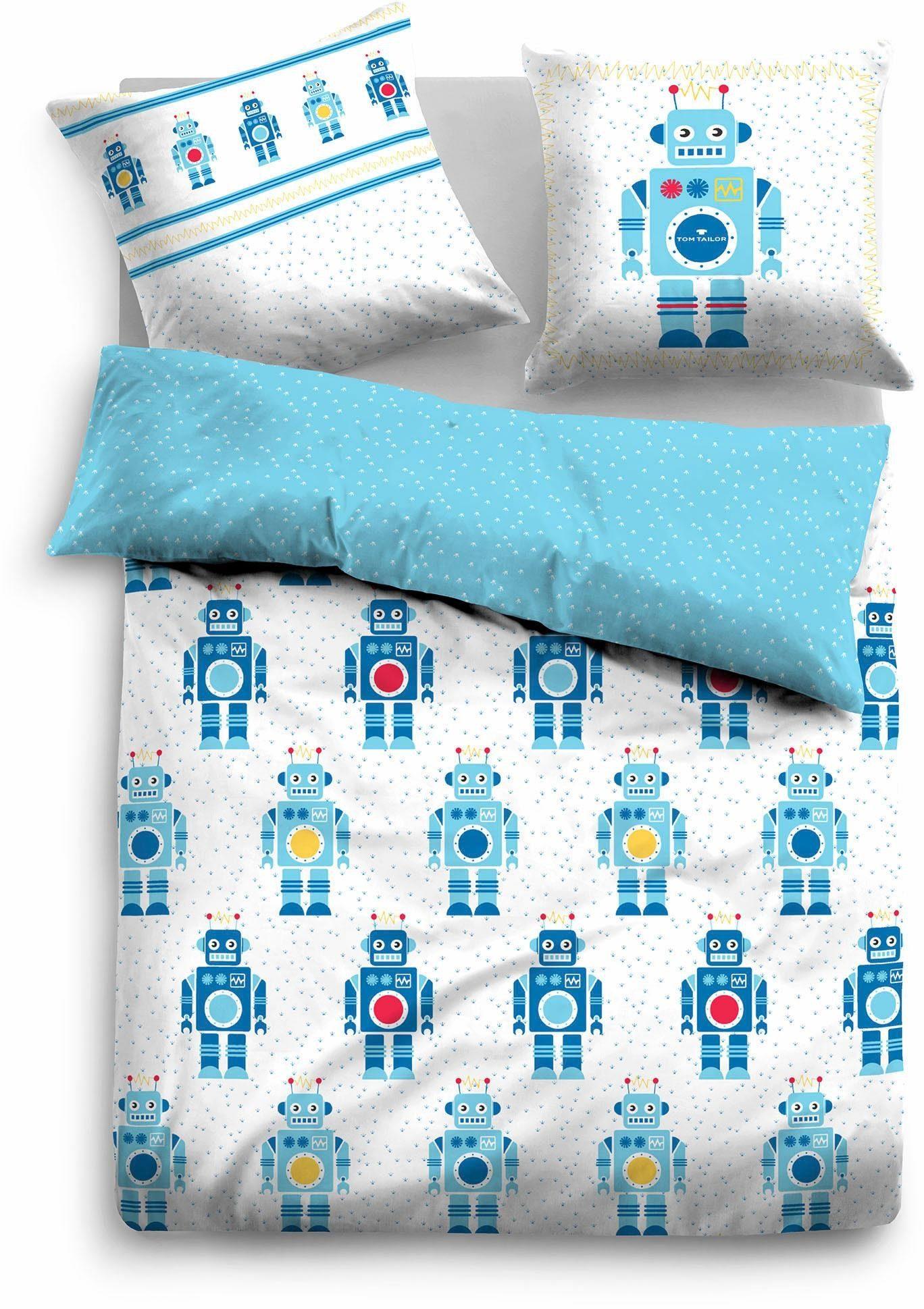 Kinderbettwäsche »Beni«, Tom Tailor, mit Robotern