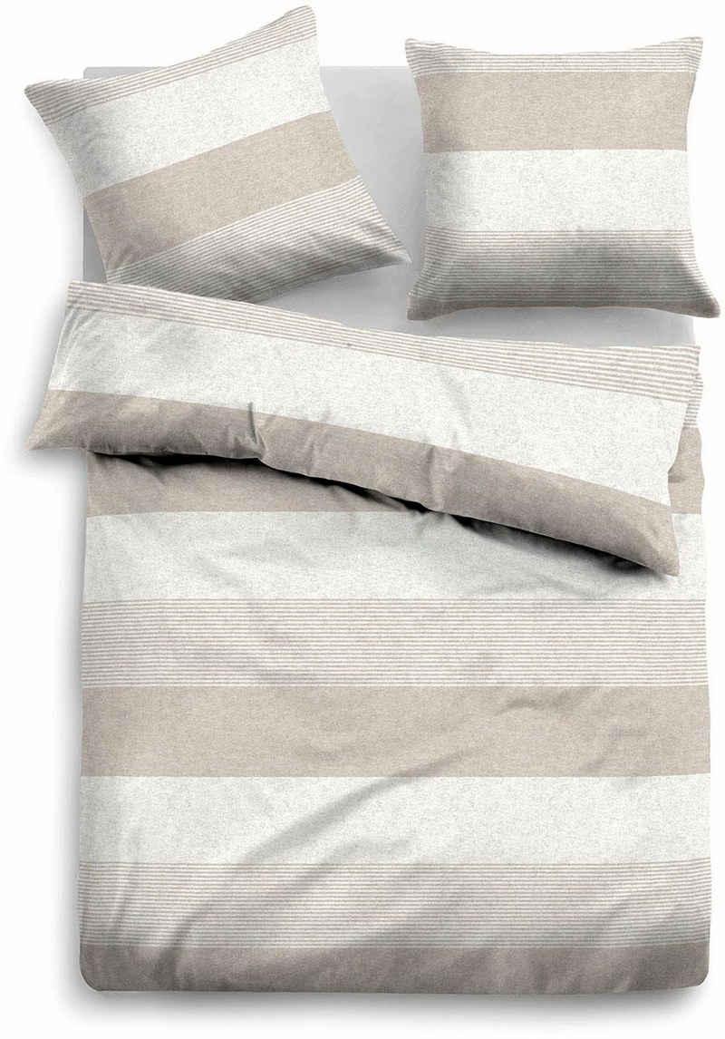 Bettwäsche »Caro«, TOM TAILOR, mit unterschiedlich breiten Streifen