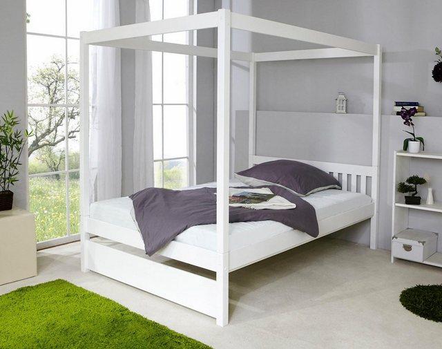 Ticaa Einzel-/Himmelbett »Lino« in diversen Breiten, Kiefer | Schlafzimmer > Betten > Himmelbetten | Kiefer | Ticaa