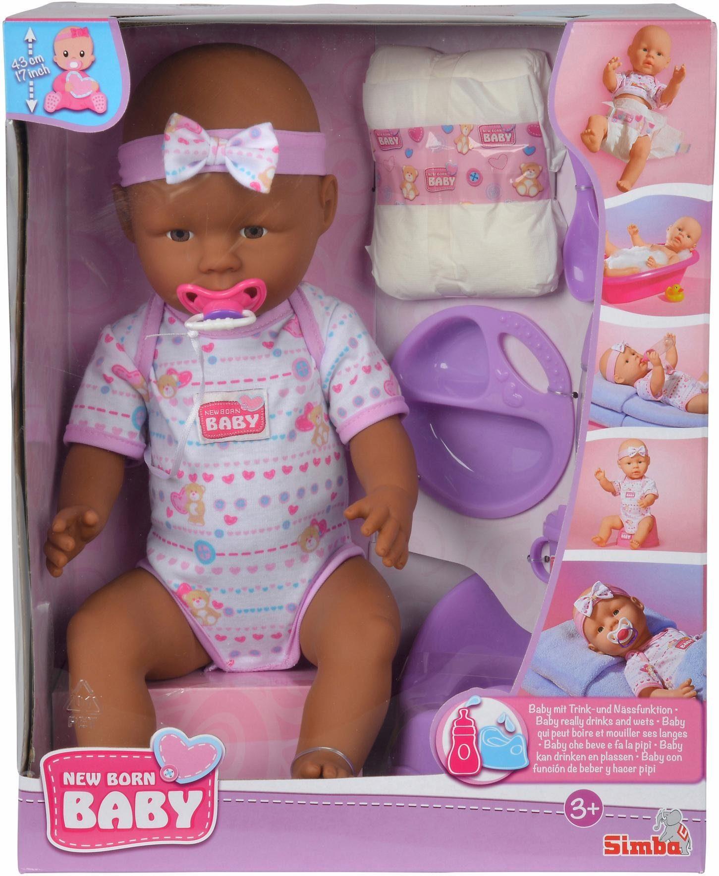 Simba Babypuppe, »New Born Baby, Ethnisch«