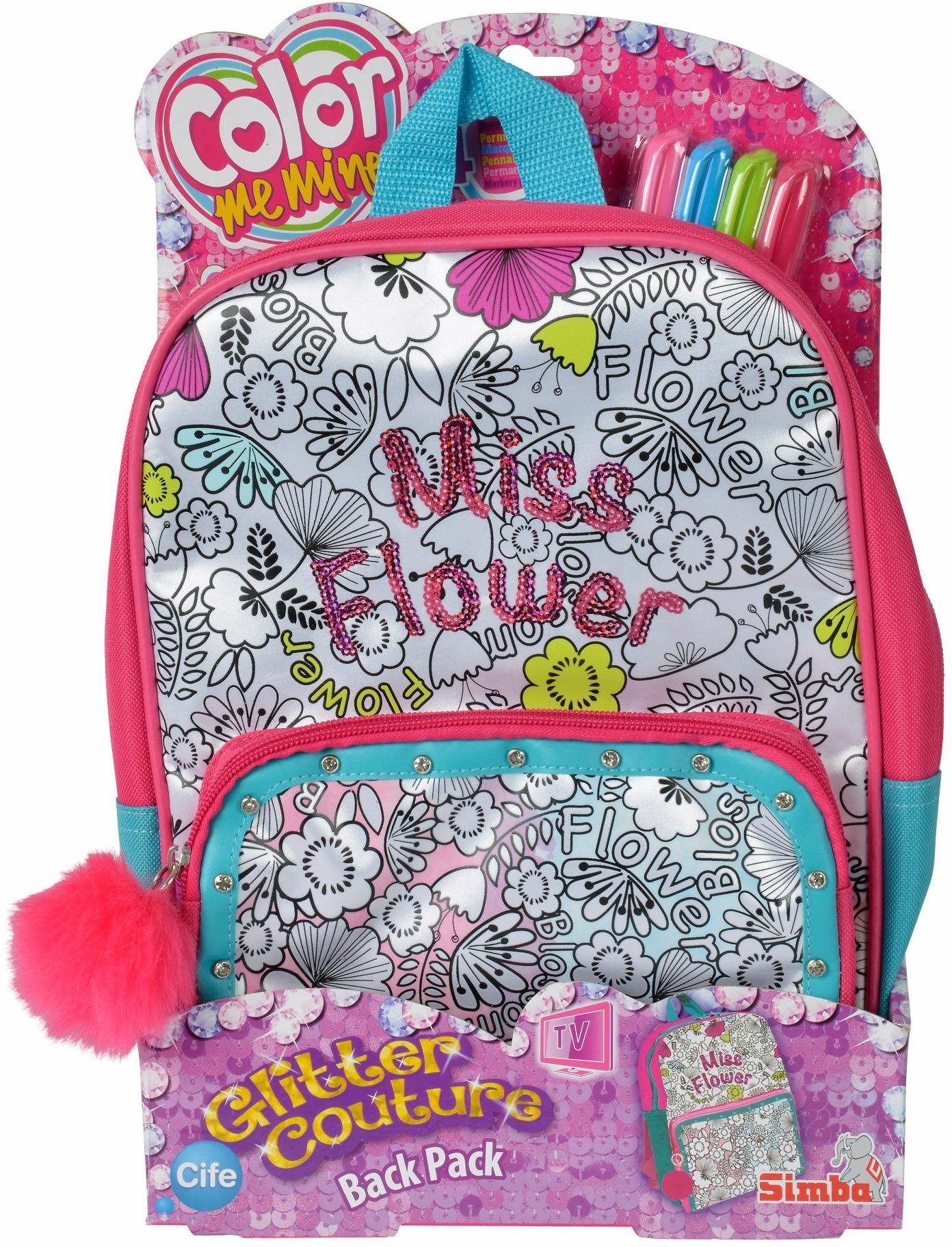 Simba Tasche zum Bemalen, »Color Me Mine, Glitter Couture Back Pack«