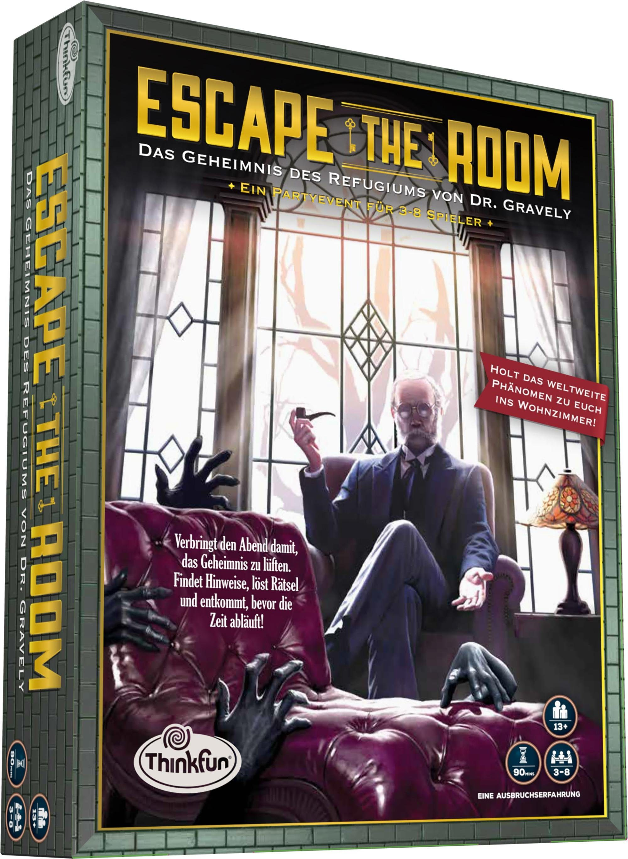 Thinkfun Strategiespiel, »Escape the Room, Das Geheimnis des Refugiums von Dr. Gravely«