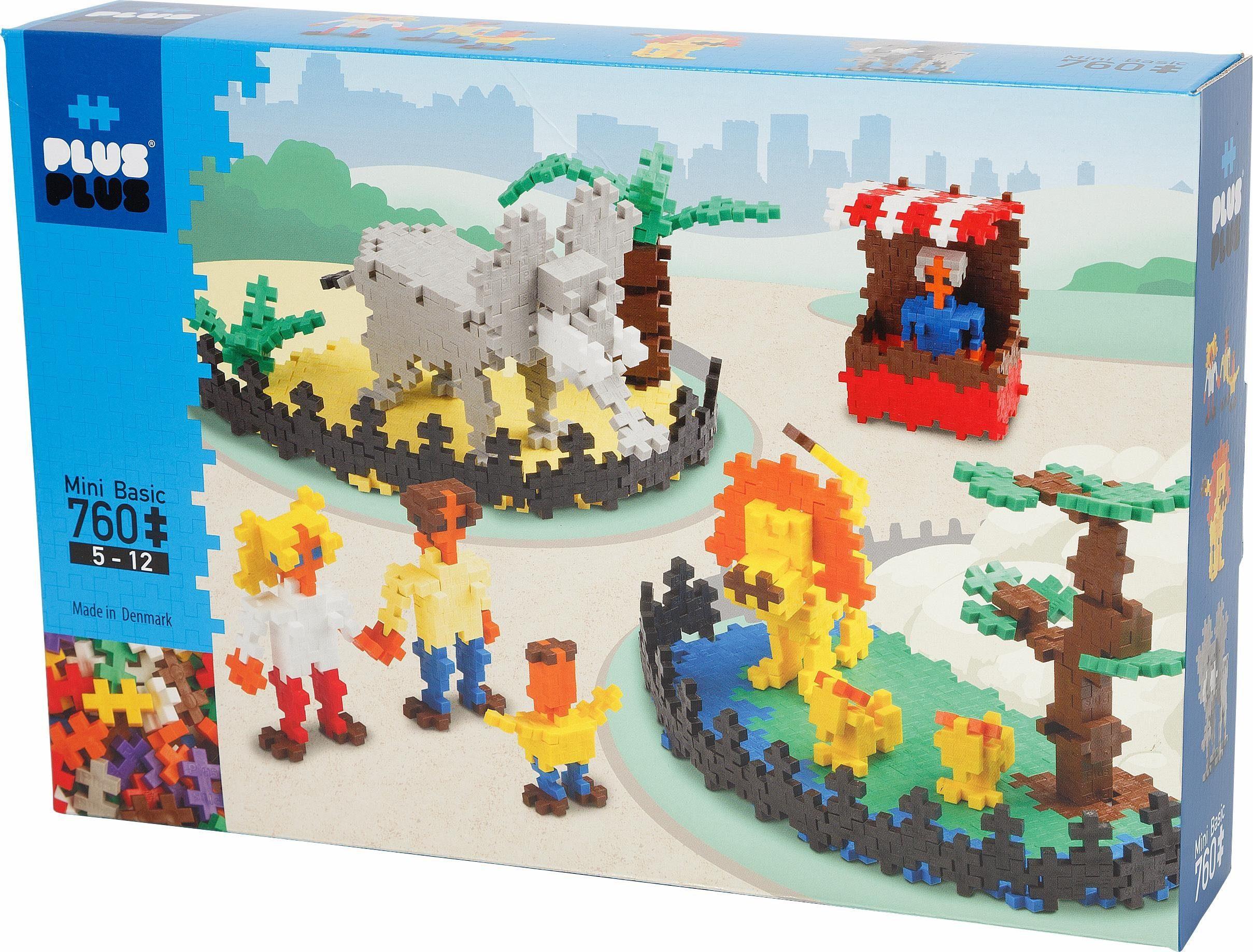 Plus Plus Bausteine Spielset, »Mini Basic, Zoo, 760 Teile«