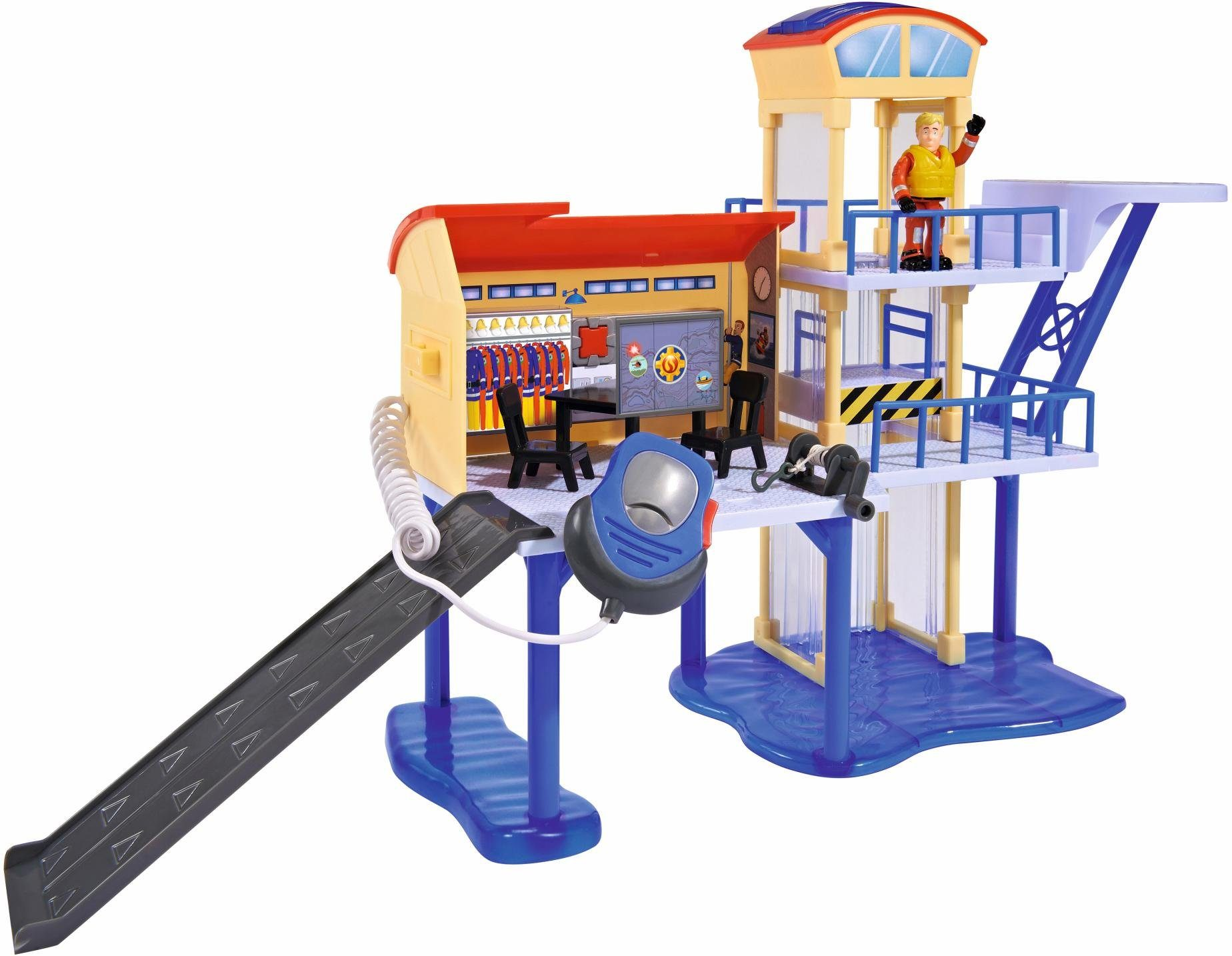 Simba Spielset mit vielen Funktionen, »Feuerwehrmann Sam, Wasserwacht mit 2 Figuren«