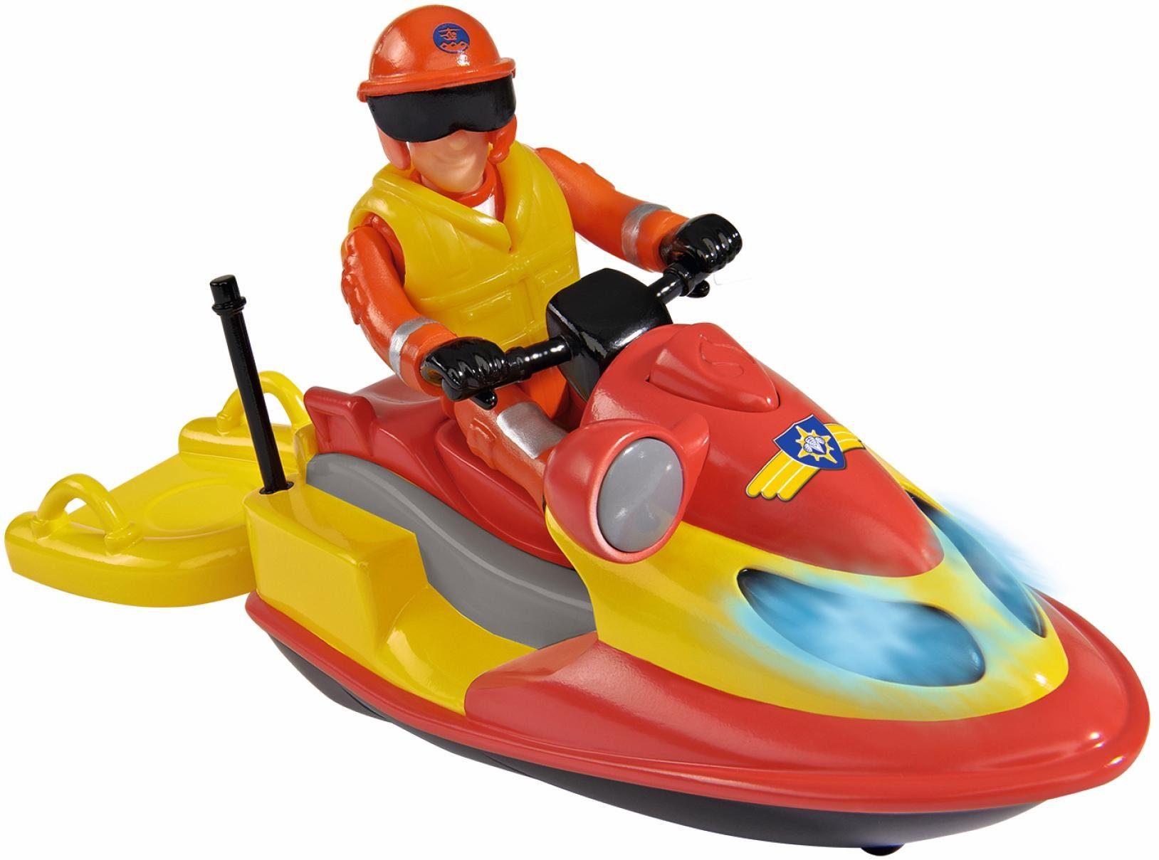 Simba Spielset mit Lichteffekt, »Feuerwehrmann Sam, Jet Ski Juno mit Figur«
