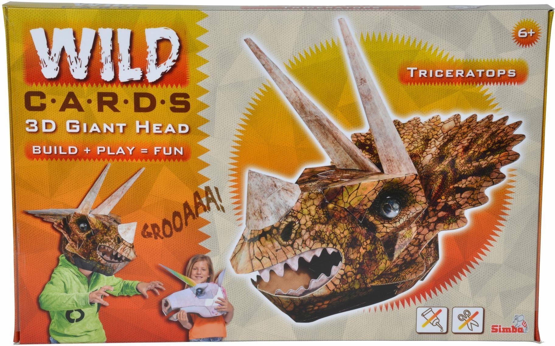 Simba Maske zum Selberbasteln, »Wild Cards, Triceratops«