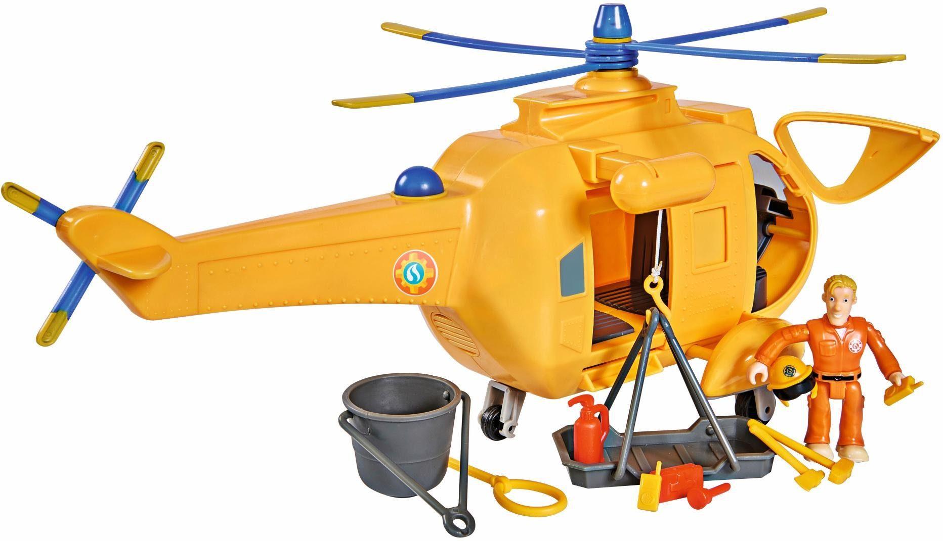Spielzeugautos Feuerwehmann Sam Hubschrauber mit Figur