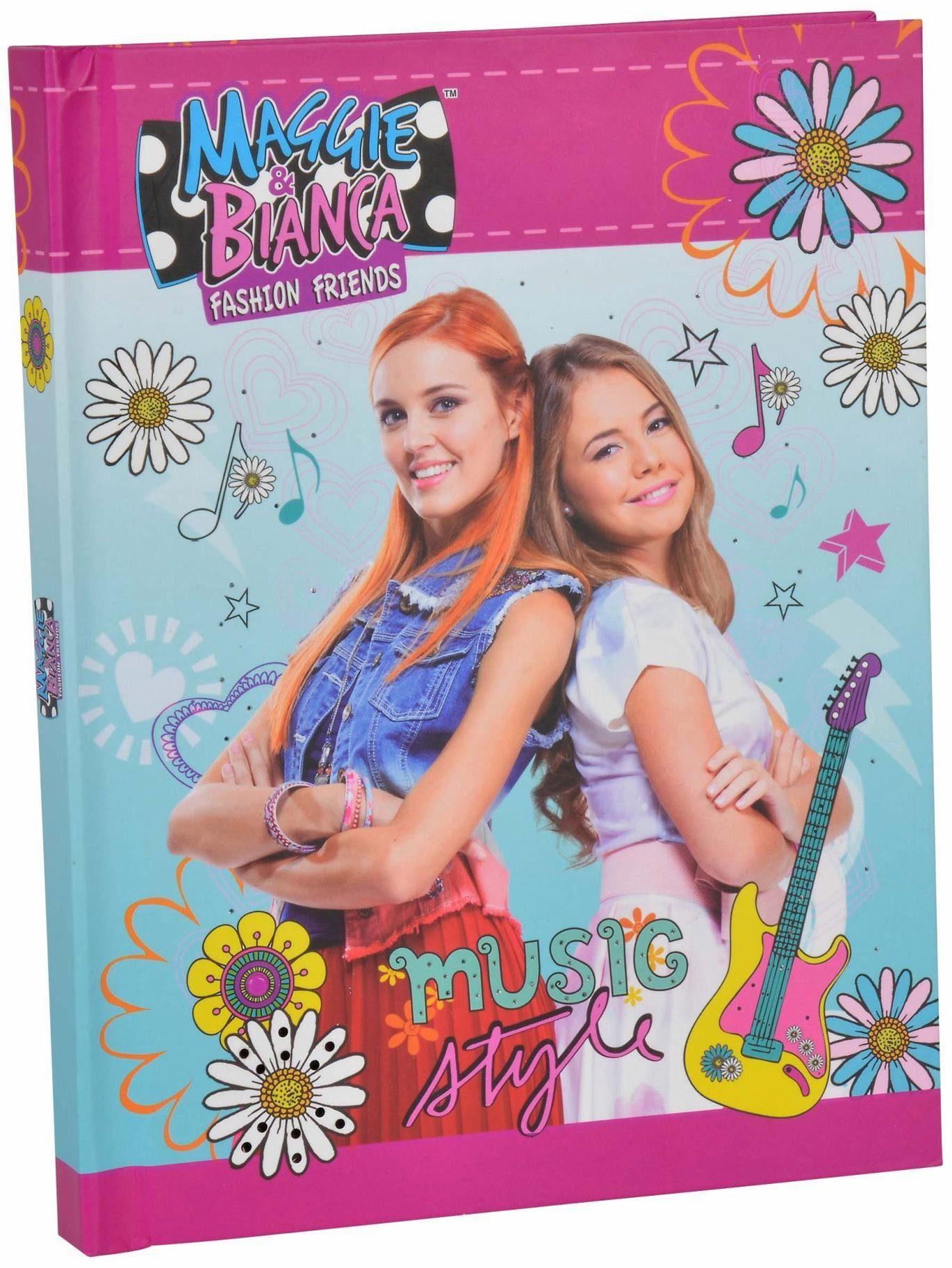Simba Notizbuch mit Sound und Lichteffekt, »Maggie & Bianca Fashion, Musik Tagebuch«