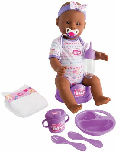 SIMBA Babypuppe »New Born Baby, Ethnische Puppe«