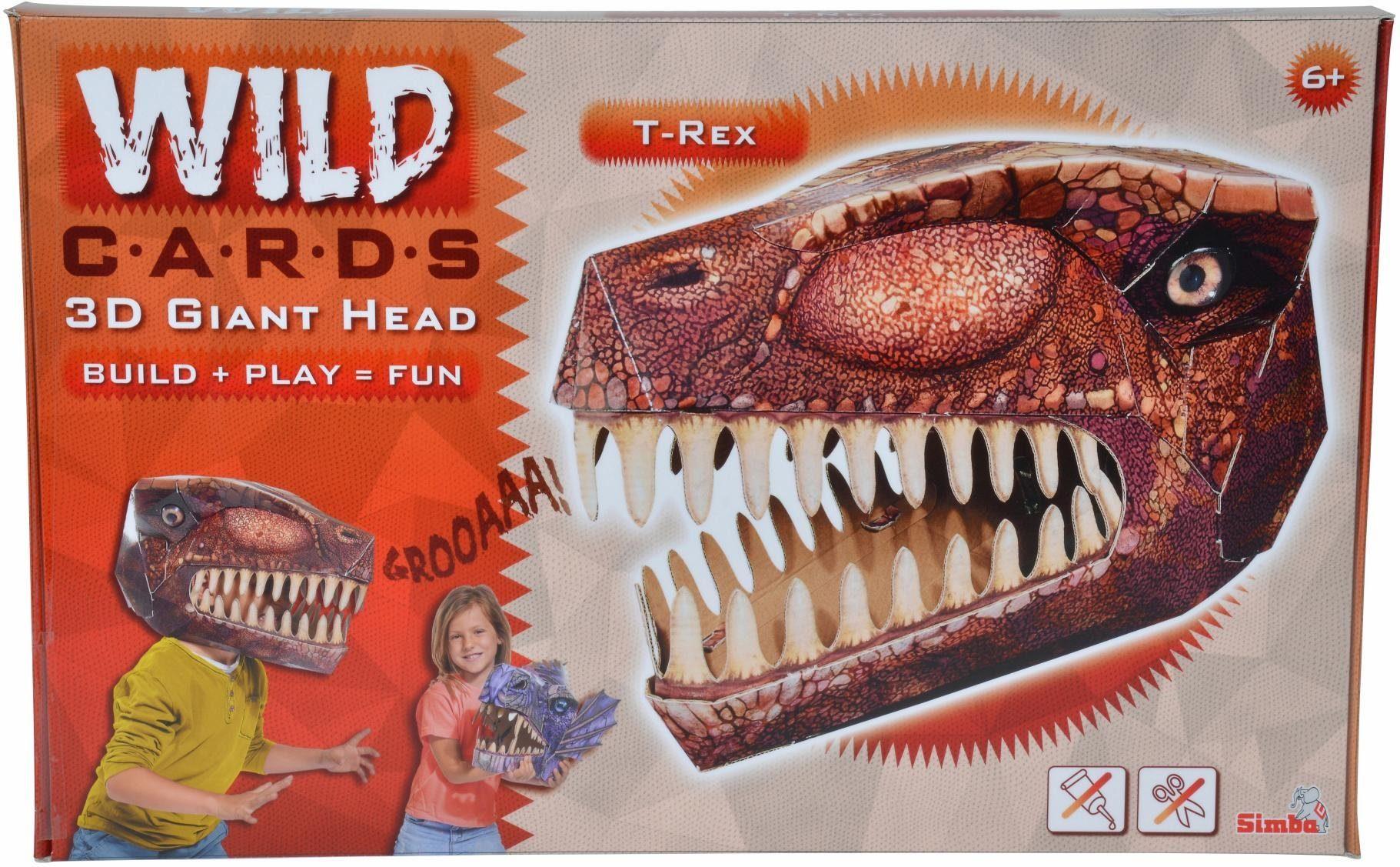 Simba Maske zum Selberbasteln, »Wild Cards, T Rex«