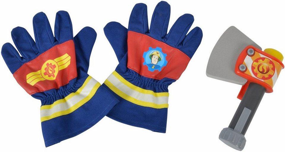 Simba Spielset,  Feuerwehrmann Sam, Handschuhe und Axt  online kaufen