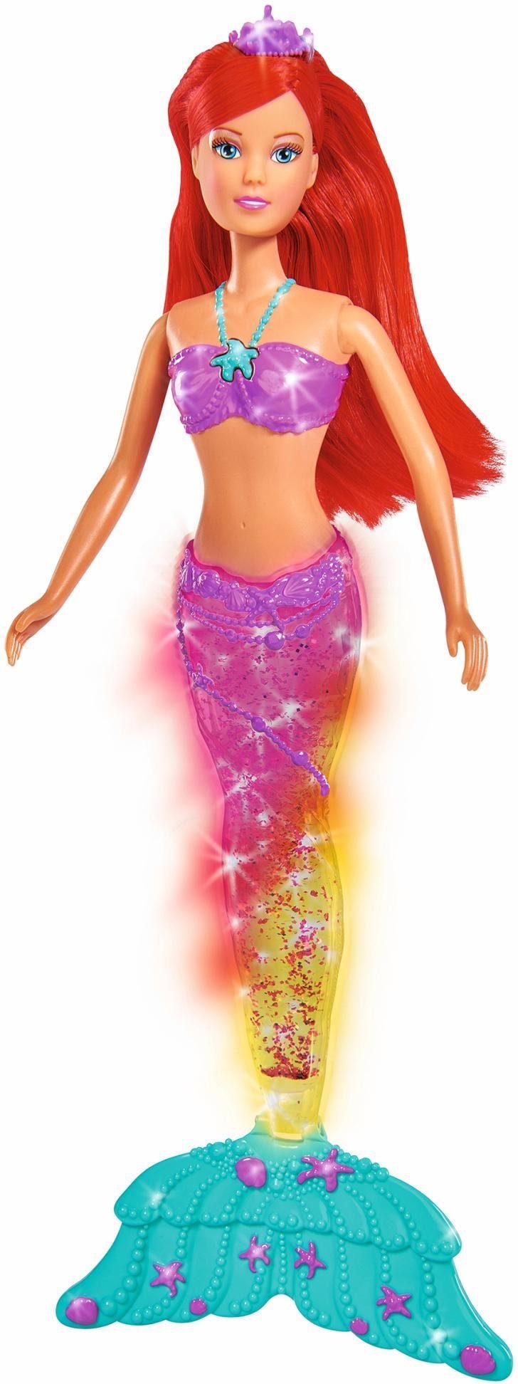 Simba Puppe mit Lichteffekt, »Steffi Love, Light & Glitter Mermaid«