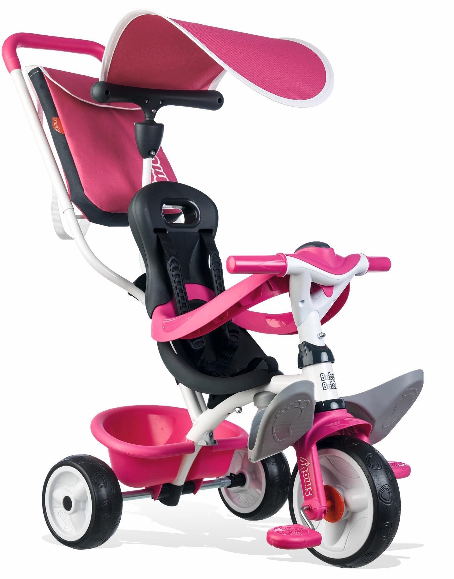 Smoby Dreirad mit Sonnenschutz, »Baby Balade Pink«
