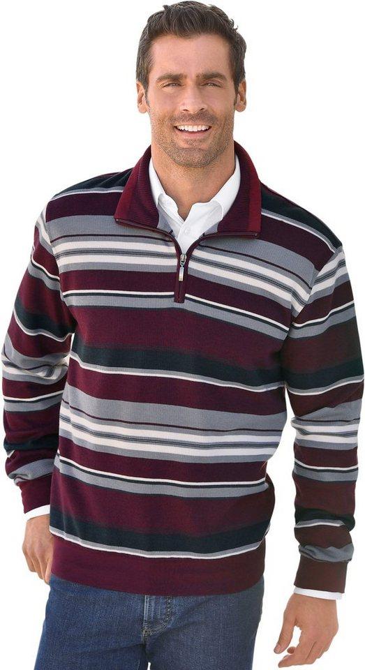 marco donati -  Sweatshirt mit kurzem Reißverschluss
