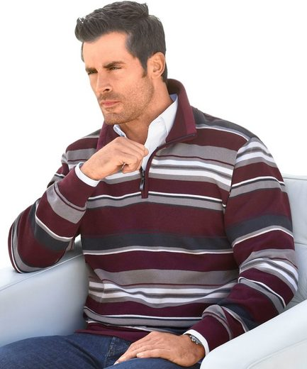 Marco Donati Sweatshirt mit kurzem Reißverschluss