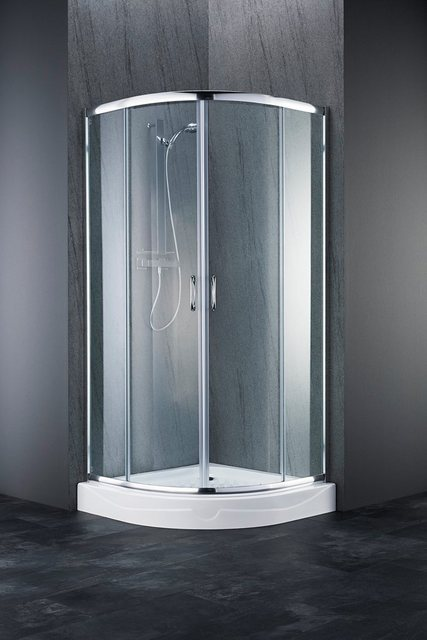 Duschen und Zubehör - welltime Runddusche »Summer«, BxT 90x90 cm, Sicherheitsglas, hochwertige Duschabtrennung, leichtgängige Schiebetüren  - Onlineshop OTTO