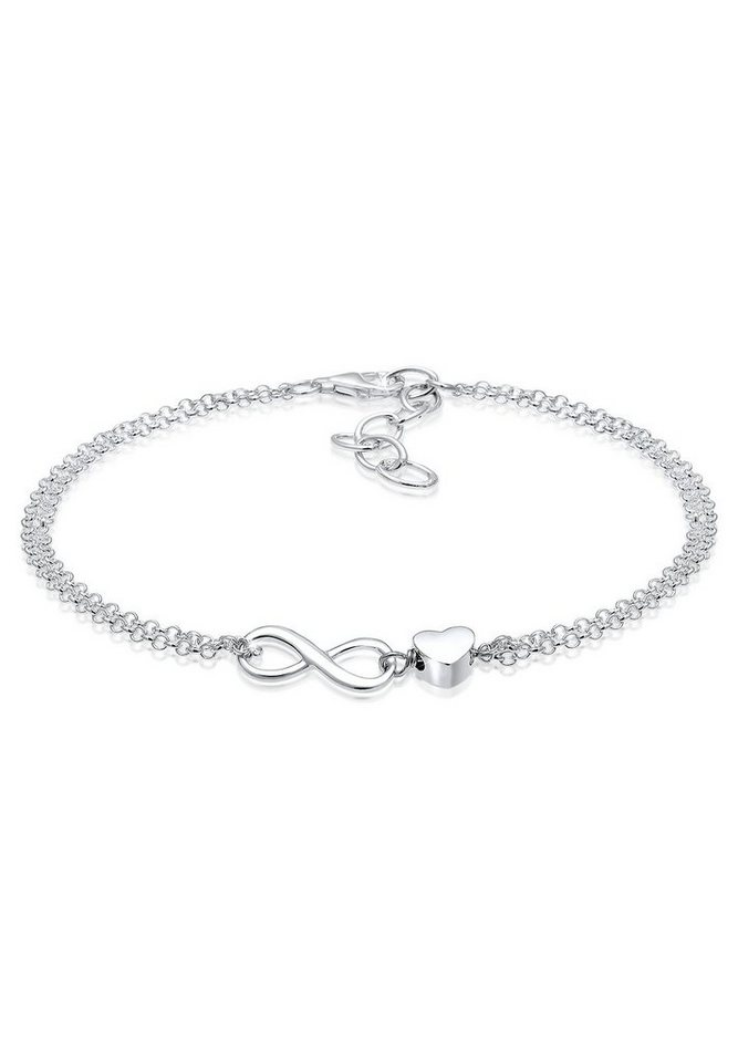 925 silber  Elli Armband »Herz Unendlichkeit Infinity 925 Silber« online ...