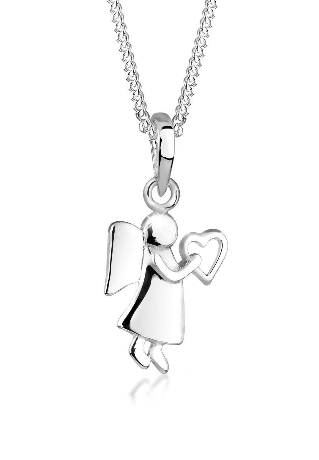 Elli Halskette »Engel Herz Filigran 925 Sterling Silber«