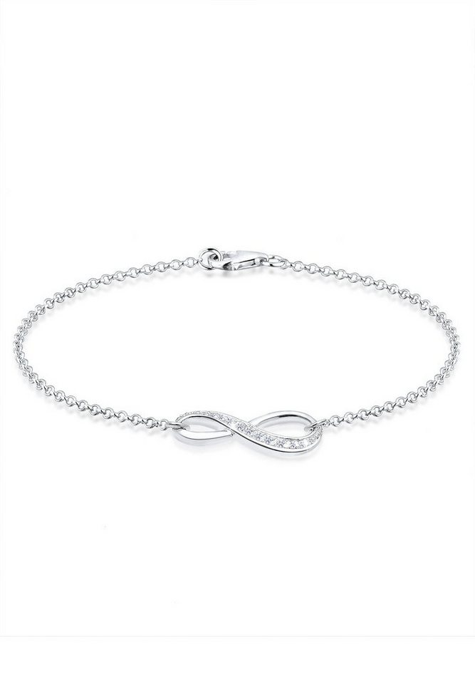 elli armband infinity symbol zirkonia 925 sterling silber maja online kaufen otto. Black Bedroom Furniture Sets. Home Design Ideas