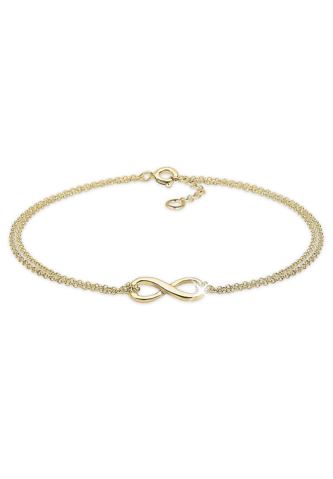 Elli Armband »Infinity Unendlichkeit Symbol 375 Gelbgold Nancy«