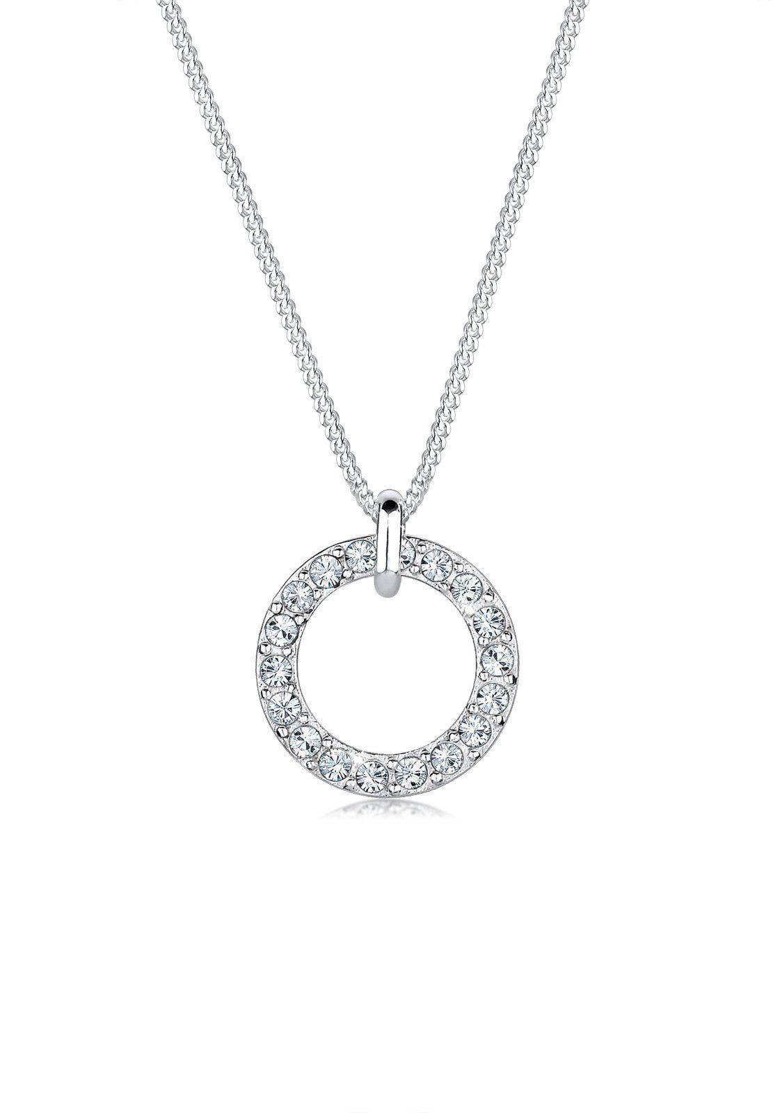 Elli Halskette »Kreis Kreis Swarovski® Kristalle 925 Silber«
