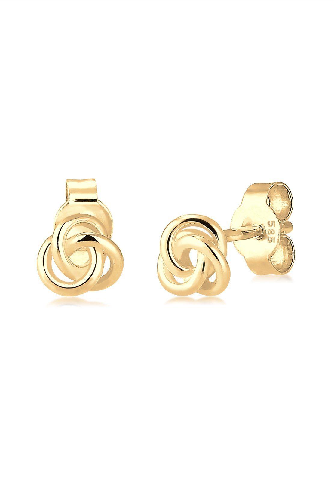 Elli Ohrringe »Trend Knoten 585 Gelbgold«