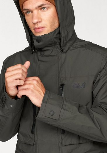 Jack Wolfskin Functional Jacket Bridgeport Jacket, Upper Material, Membrane And Feed From 100% Recycled Polyester