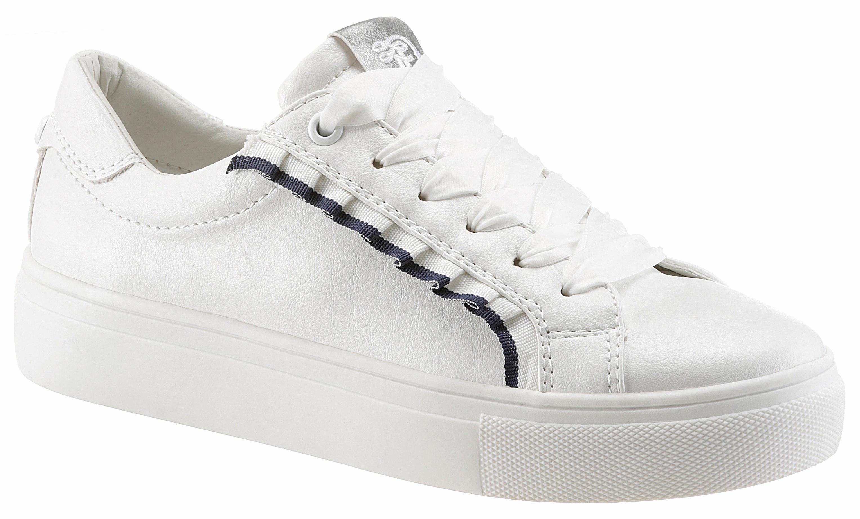 Tom Tailor Sneaker, mit süßen Rüschchen kaufen  weiß-navy