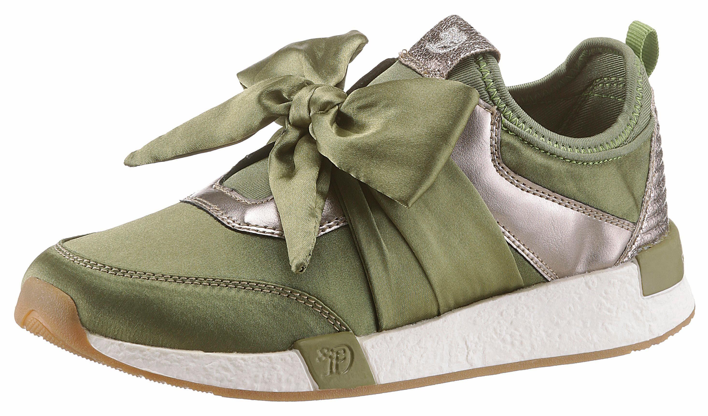 Tom Tailor Slip-On Sneaker, mit plakativer Schleife online kaufen  grün