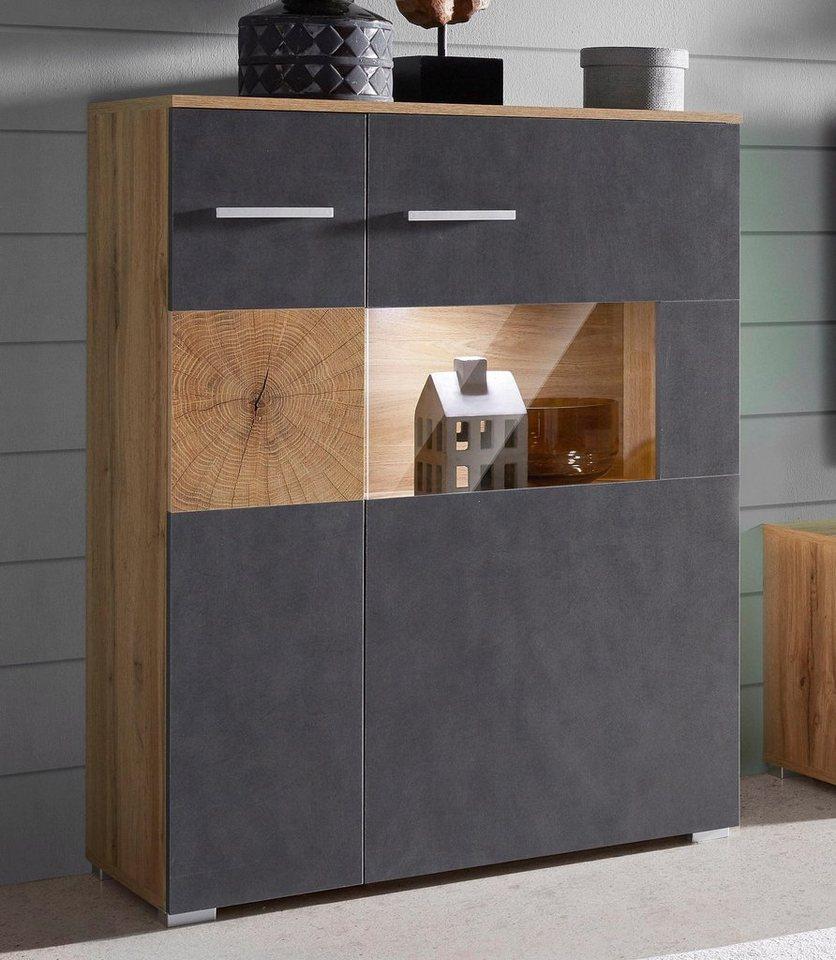 highboard wobona breite 80 cm online kaufen otto. Black Bedroom Furniture Sets. Home Design Ideas