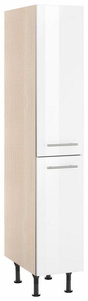 OPTIFIT Apothekerschrank »Bern« | Küche und Esszimmer > Küchenschränke > Apothekerschränke | Weiß | Nachbildung - Edelstahl - Melamin | OPTIFIT