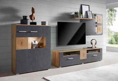 Wohnwande Modern Set : Moderne wohnwand online kaufen otto