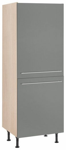 OPTIFIT Kühlumbauschrank »Bern« 60 cm breit, 176 cm hoch, mit höhenverstellbaren Stellfüßen, mit Metallgriffen, geeignet für Einbaukühlschränke Nischenmaß 88