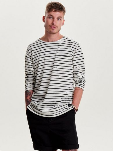 ONLY & SONS Gestreiftes Sweatshirt