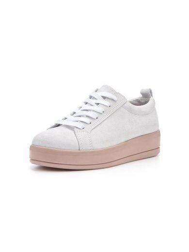 Bianco Flachform aus Wildleder Sneaker