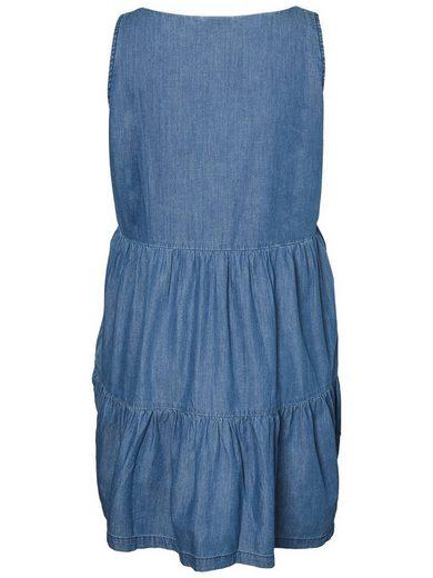 JUNAROSE Jeans-Optik- Kleid ohne Ärmel
