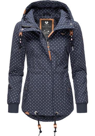 Ragwear Winterjacke »YM-Danka Dots« stylische Winter Outdoorjacke mit Kapuze