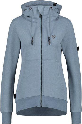 Alife & Kickin Sweatshirt »YasminAK A« Sweatjacke in dezenten Uni-Farben mit Kapuze