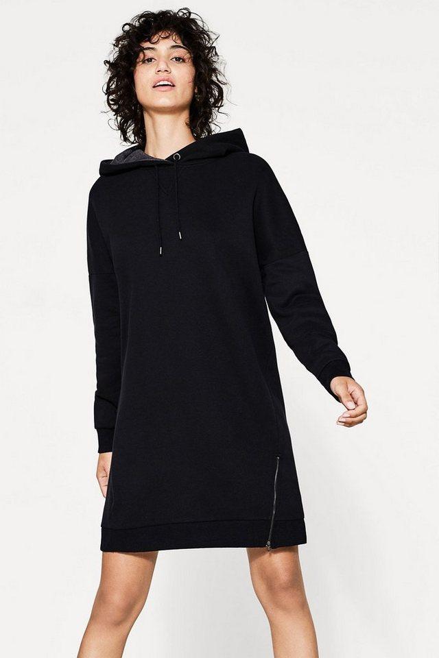 EDC BY ESPRIT Zipp-Hoodie-Kleid aus Baumwoll-Mix   OTTO