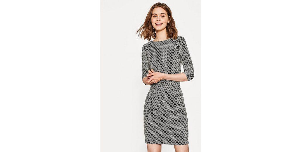 EDC BY ESPRIT Kleid mit Intarsien-Muster