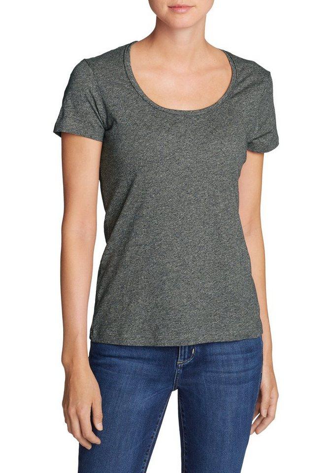 Damen Eddie Bauer T-Shirt Essential Slub Shirt – Kurzarm mit Rundhalsausschnitt schwarz | 04057682128986