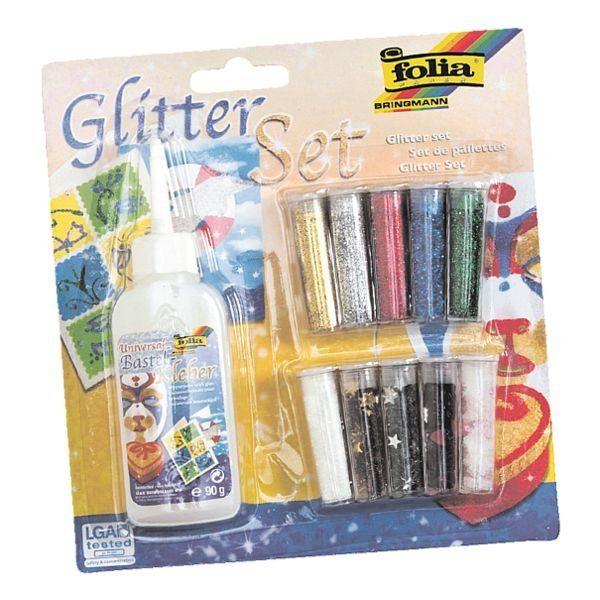 Folia Glitter-Set inkl. Dekokleber