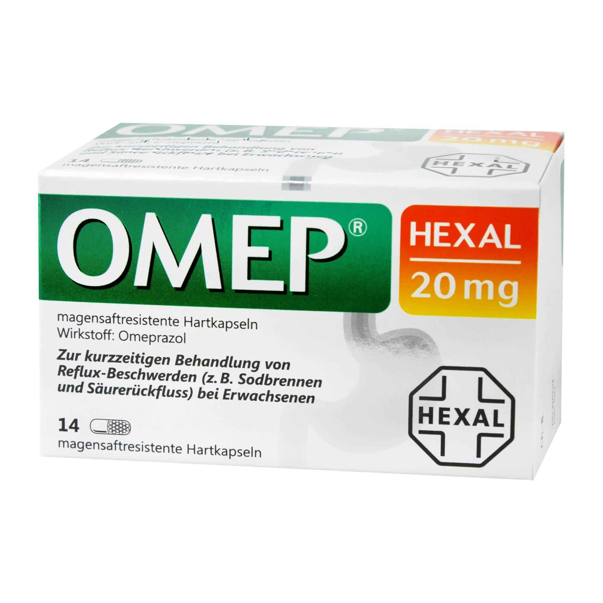 omep Hexal 20mg magensaftresistente Hartkapseln , 14 St