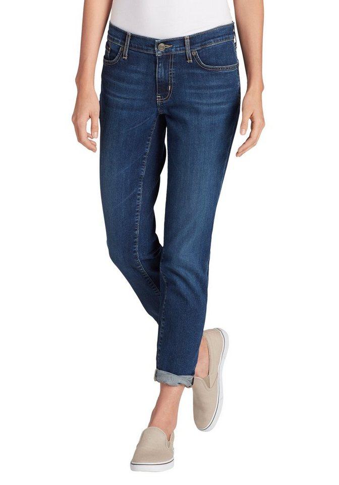 Eddie Bauer 5-Pocket-Jeans Boyfriend Jeans - Slim Leg - Washed Navy | Bekleidung > Jeans > 5-Pocket-Jeans | Blau | Lyocell - Jeans | Eddie Bauer