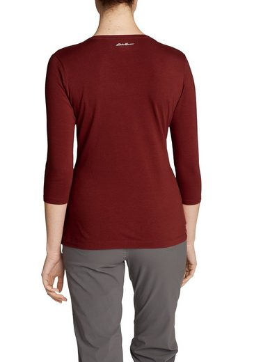 Eddie Bauer Lookout T-shirt With V-neck - 3/4-arm - Uni