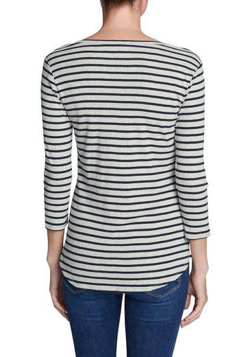 Eddie Bauer Favorite Shirt - 3/4-Arm mit Y-Ausschnitt - geringelt