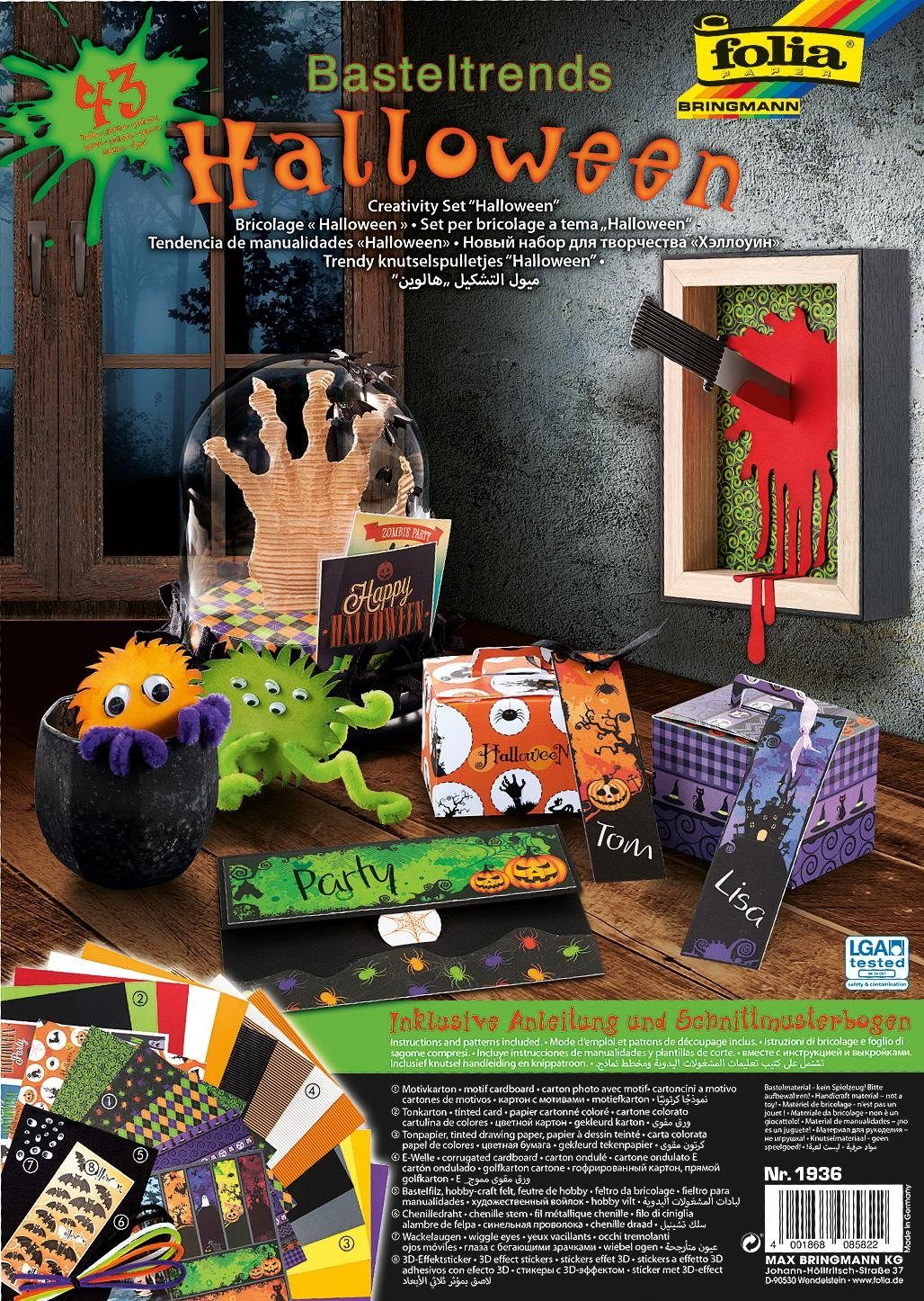 """Bastel-Set """"Monster Halloween"""" Komplettset"""