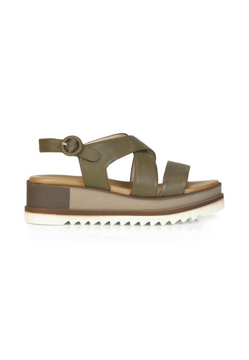 MADELEINE »Leder-Sandalette mit Plateausohle« Sandalette