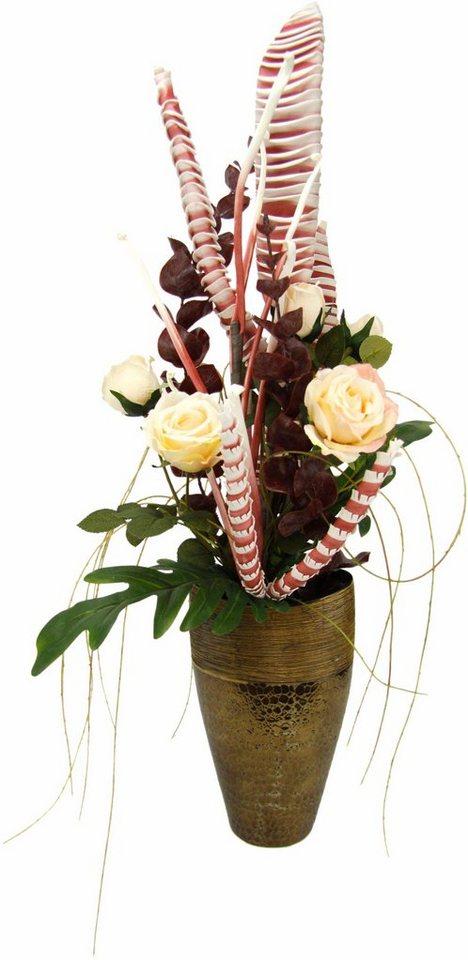 kunstpflanze arrangement rosen in vase kaufen otto. Black Bedroom Furniture Sets. Home Design Ideas